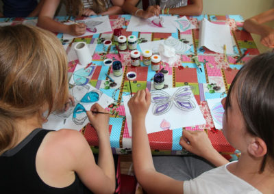 Workshop 'glas-in-lood-vlinder'.